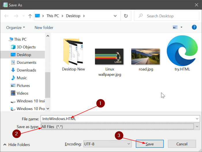 save text file in notepad as PDF or HTML in Windows 10 pic3