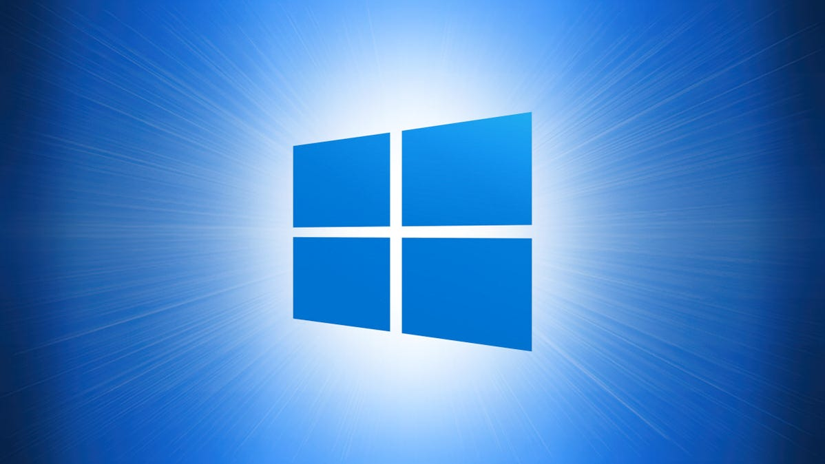 Windows 10 Logo on a Blue background