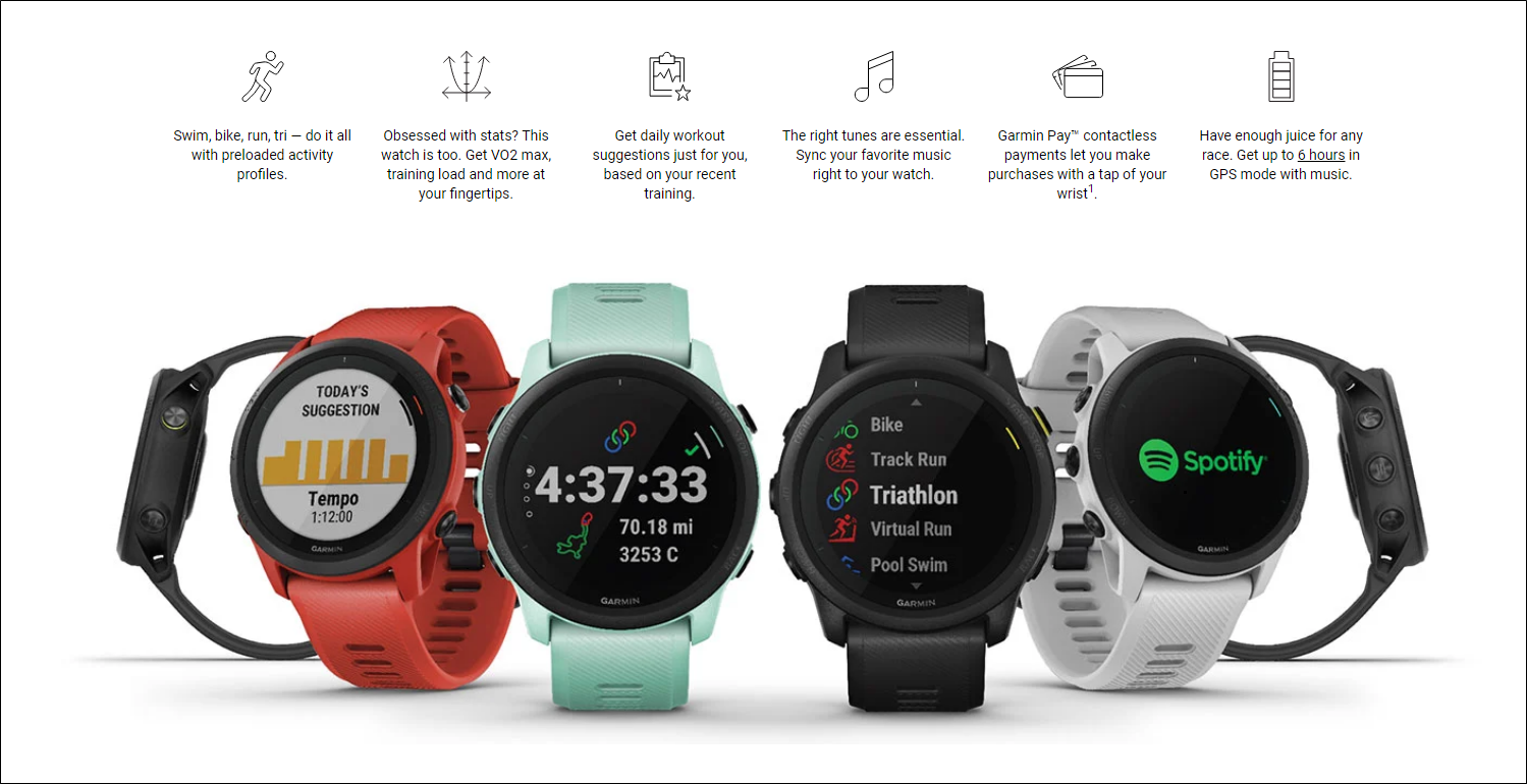 A look at some of the Forerunner 745's features