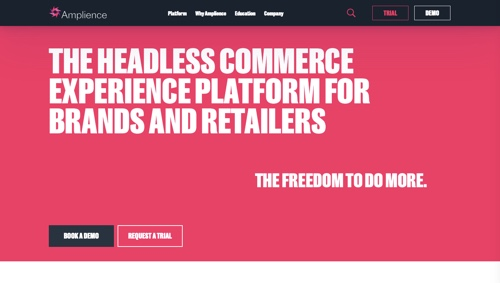 Home page of Amplience