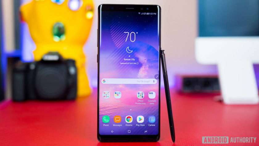 The Galaxy Note 8.