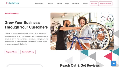 Home page of GatherUp