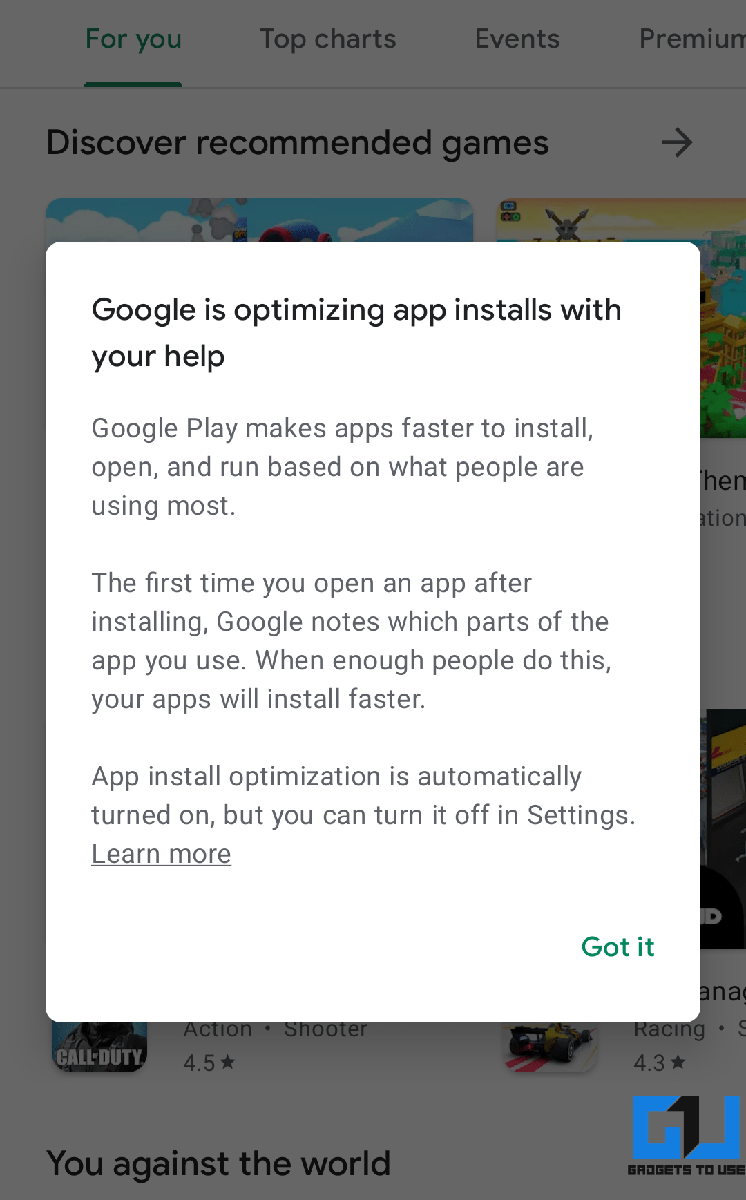 App Install Optimization in Google Play Store