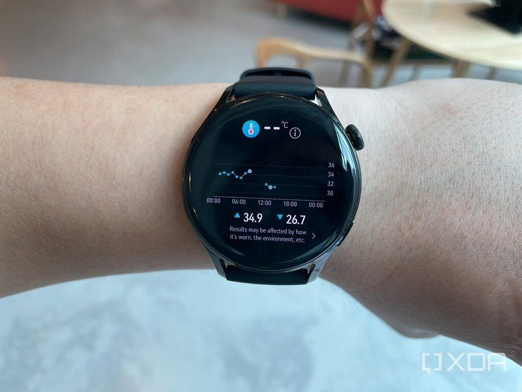 Huawei Watch 3 tracking skin temperature