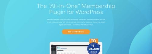 Home page of MemberPress