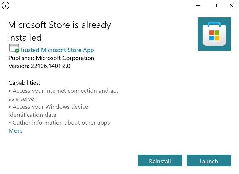 Install Microsoft Store on Windows 11