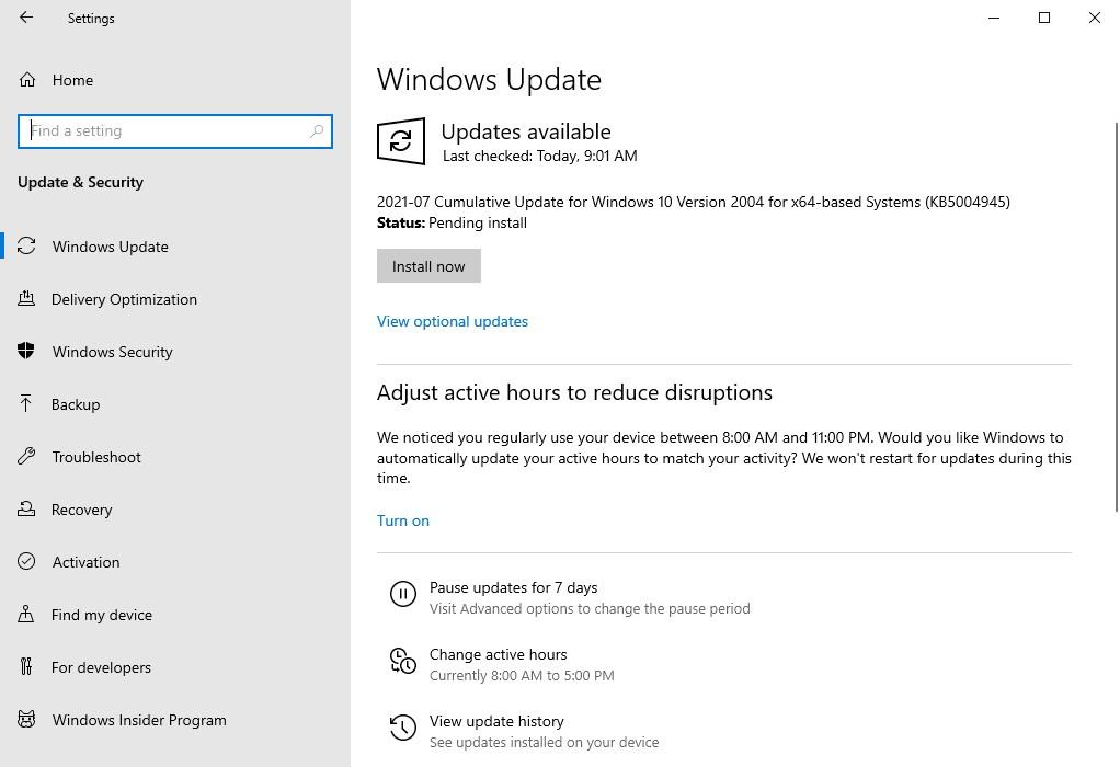 Microsoft rolls out KB5004945 emergency Windows Updates to fix PrintNightmare vulnerabilities
