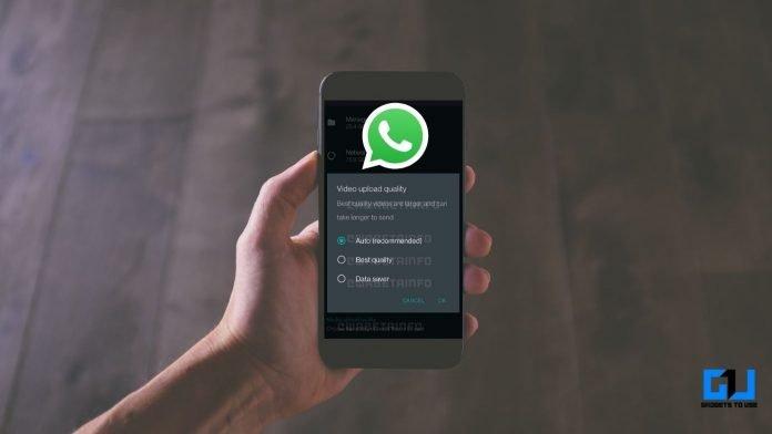 original quality photos videos on WhatsApp