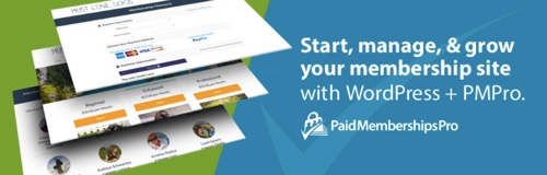 Home page of Paid Memberships Pro