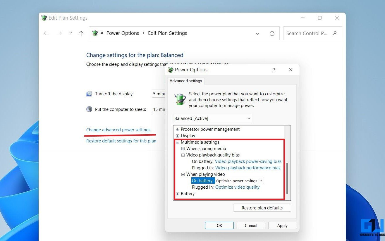 Save Battery While Watching Movies and Videos on Windows 11