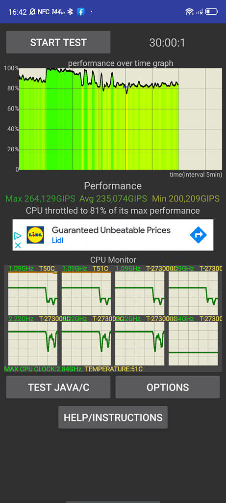 CPU Throttling Test on the Red Magic 6R