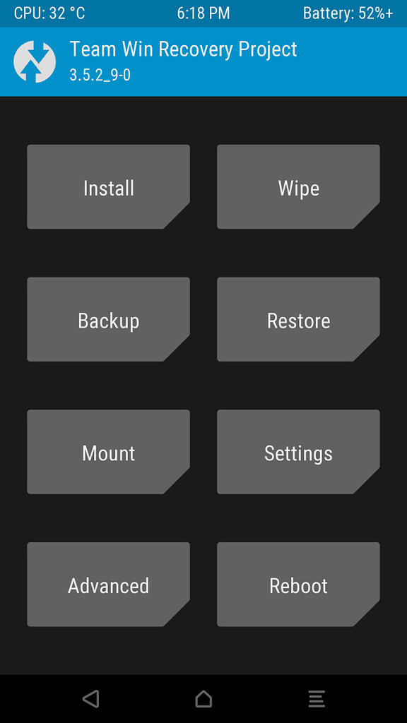 TWRP backup on Android