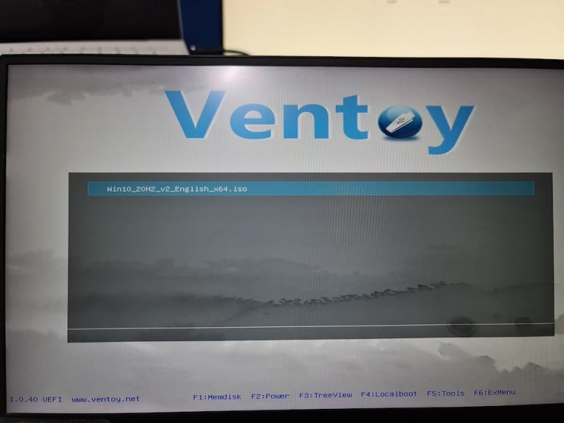 booting windows with ventoy