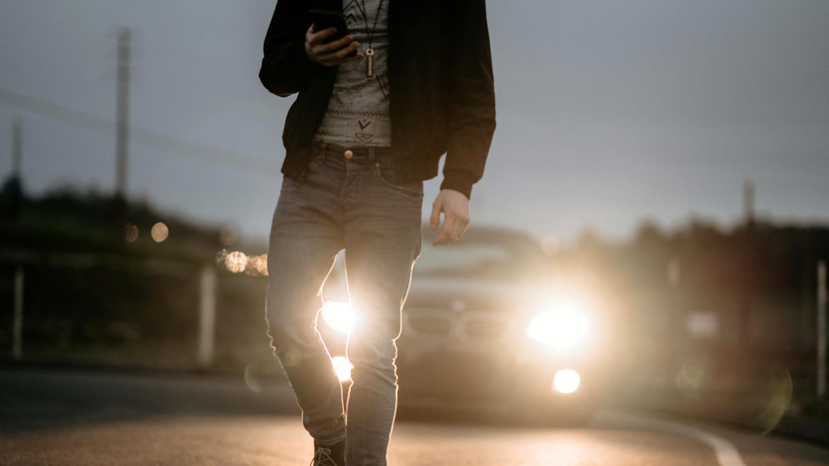 distracted walking android heads up