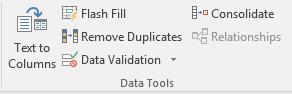 Excel drop-down menu option