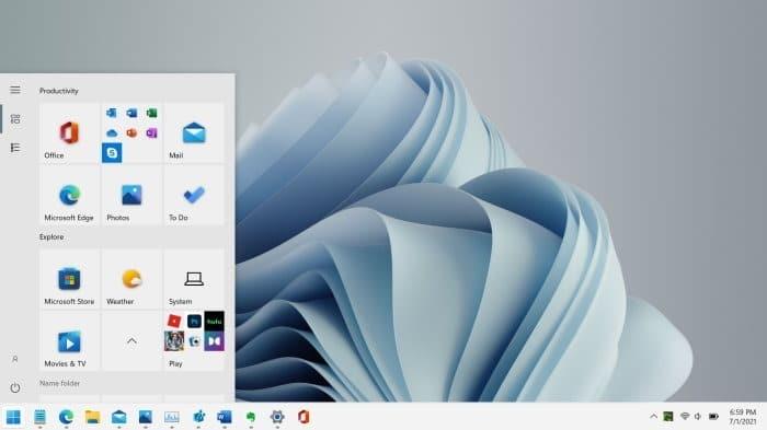 get Windows 10 style Start menu in Windows 11 pic01