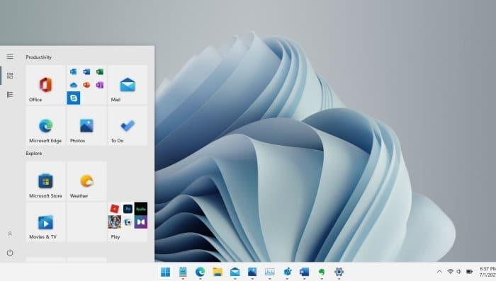 get Windows 10 style Start menu in Windows 11 pic1