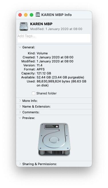 Get Info on Mac