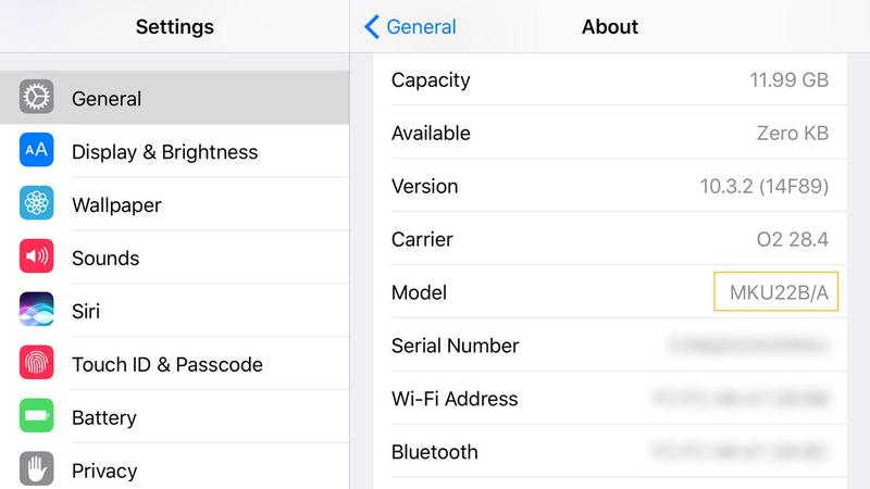 How to identify which iPhone you've got: SKU number