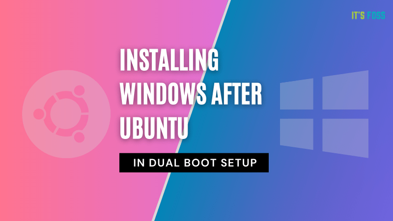 install windows after ubuntu