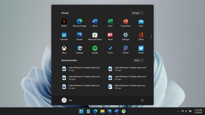 make Windows 11 taskbar black pic01