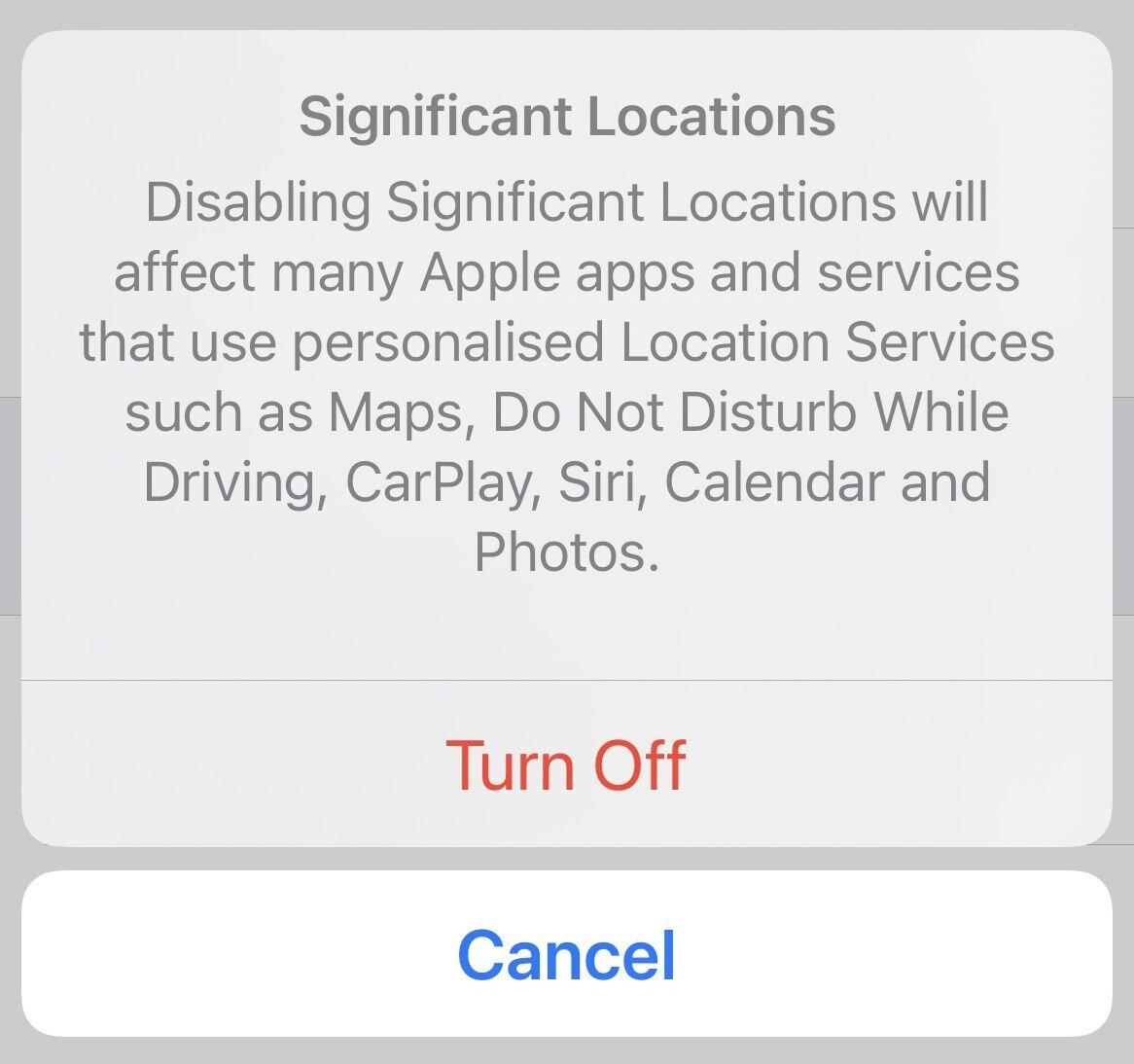 Turn off location history on iPhone