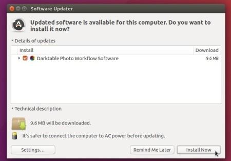 upgrade darktable