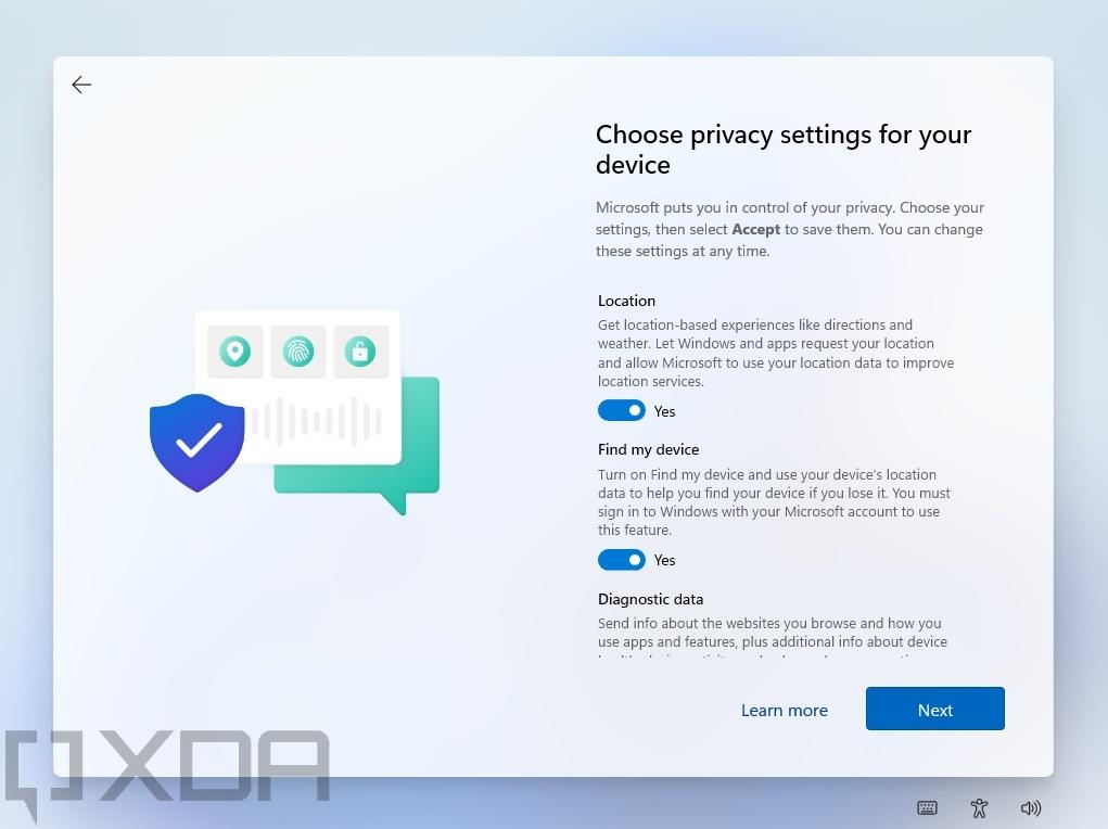 Windows 11 setup experience