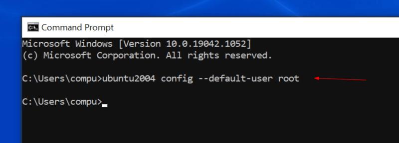 wsl set root as default