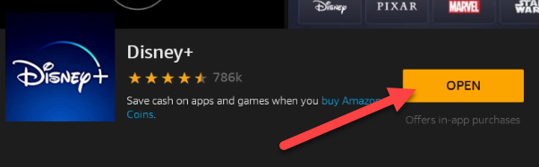 """When the app is done installing, you can tap """"Open"""" to launch it."""
