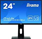 """Image of iiyama XUB2493HSU-B1 24""""IPS LCD with Slim Bezel, 4ms, Full HD 1920x1080, 250 cd/m² Brightness, 1x HDMI,1 x DisplayPort,1 x VGA, 2 x USB, 2 x 2W Speakers, Height Adjustable Stand, Black"""
