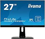 Image of iiyama XUB2792QSU-B1 27-Inch ProLite Height Adjustable IPS WQHD Slim LED Monitor (Black)