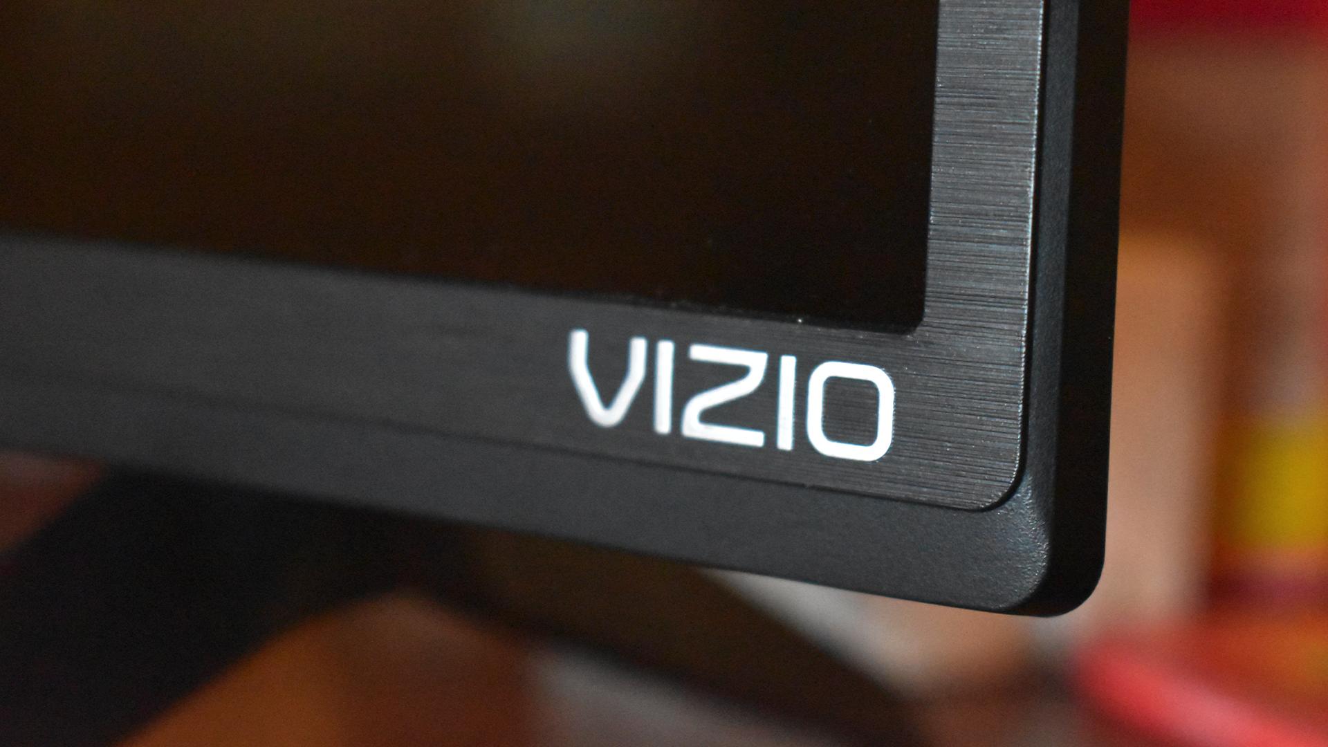 The Vizio TV's logo.