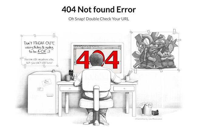 404 error page example from the website brandcrowd