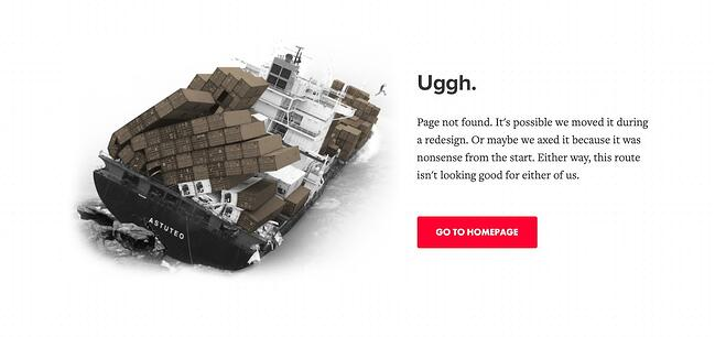 404 error page example from the website astuteo