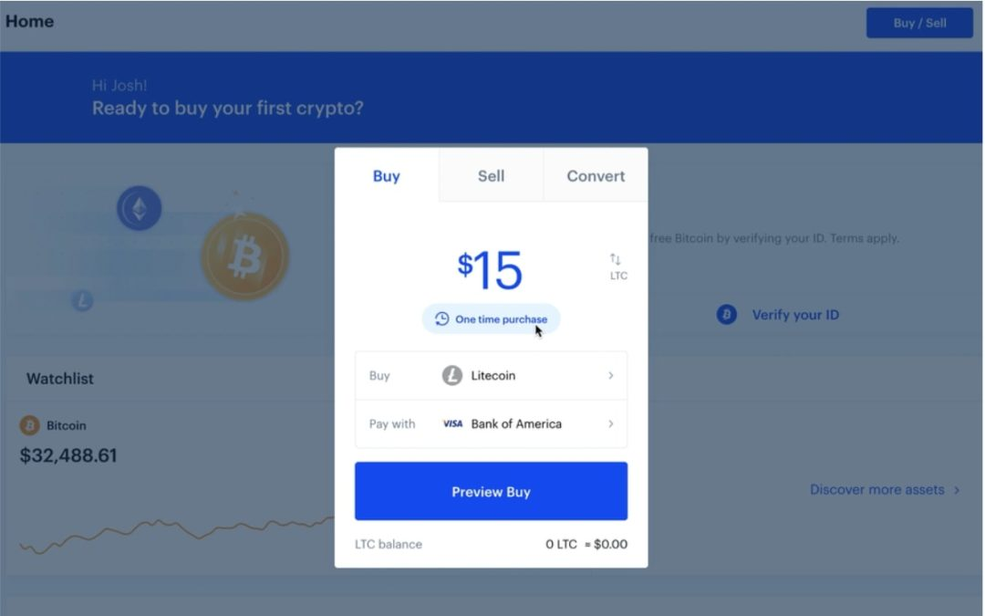 Buying bitcoin on Coinbase for cryptocurrency investing