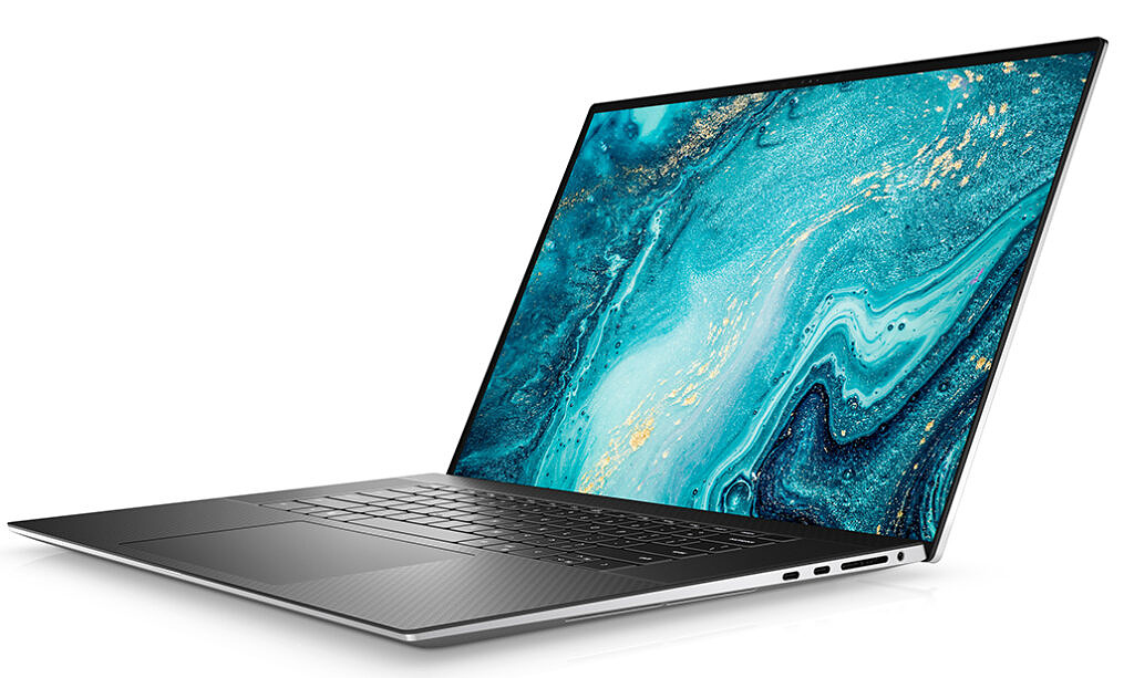 Dell XPS 17 9510 angled view