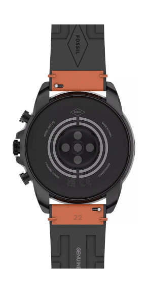 Rear of the Fossil Gen 6 smartwatch for men