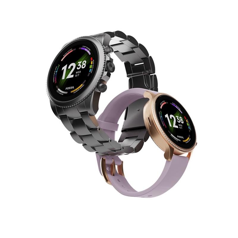 Fossil Gen 6 smartwatches interlocked