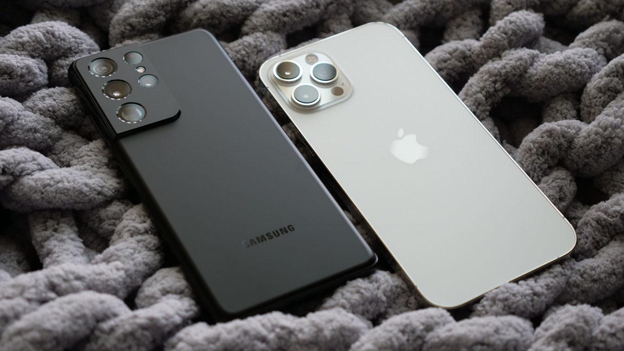 Galaxy S21 Ultra iPhone 12 Pro Max