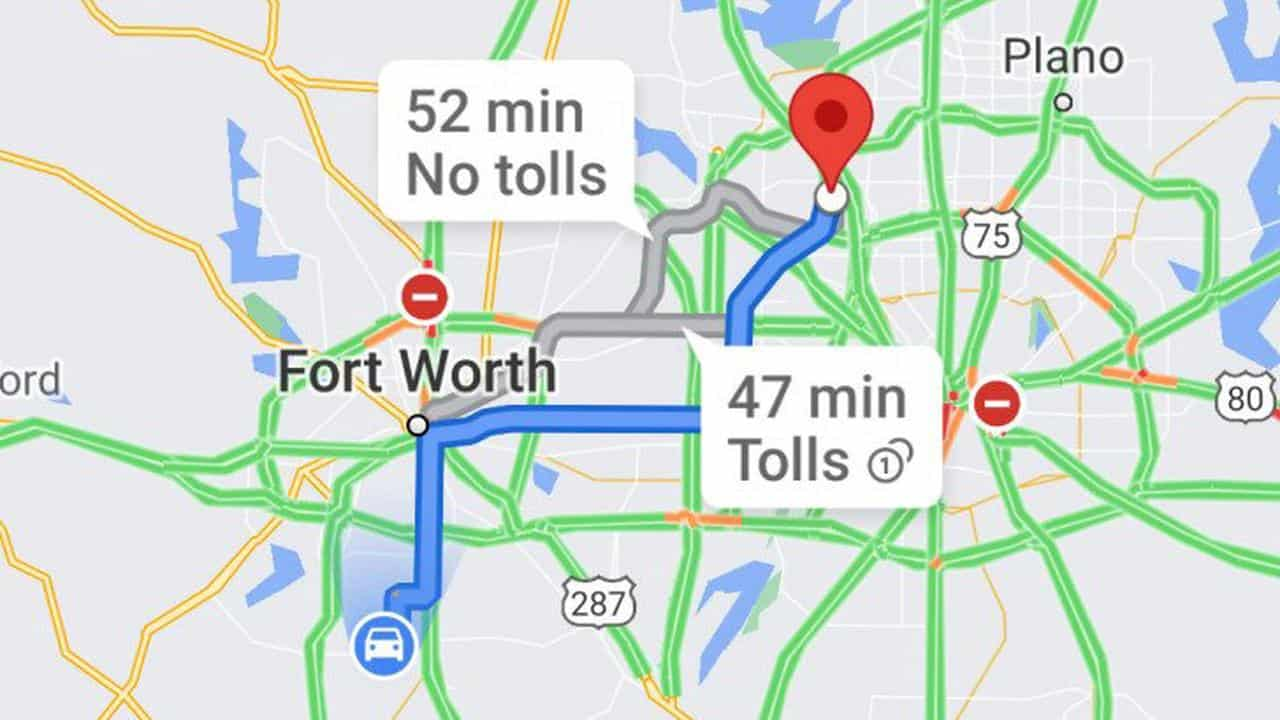Google Maps is working to show you how much tolls cost along your route