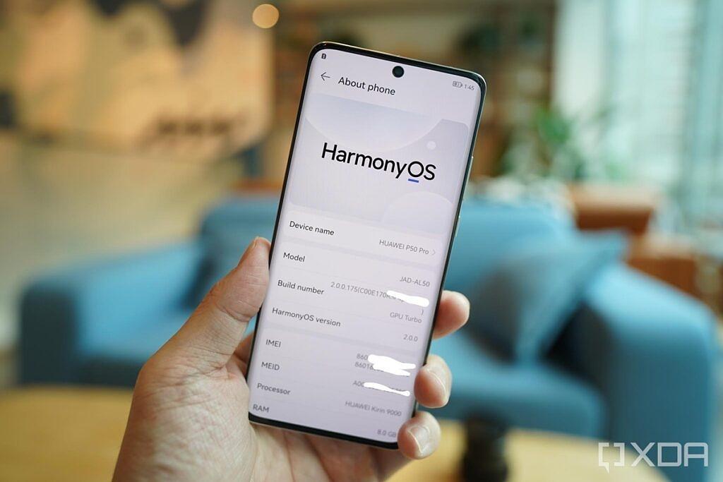 HarmonyOS in the P50 Pro.