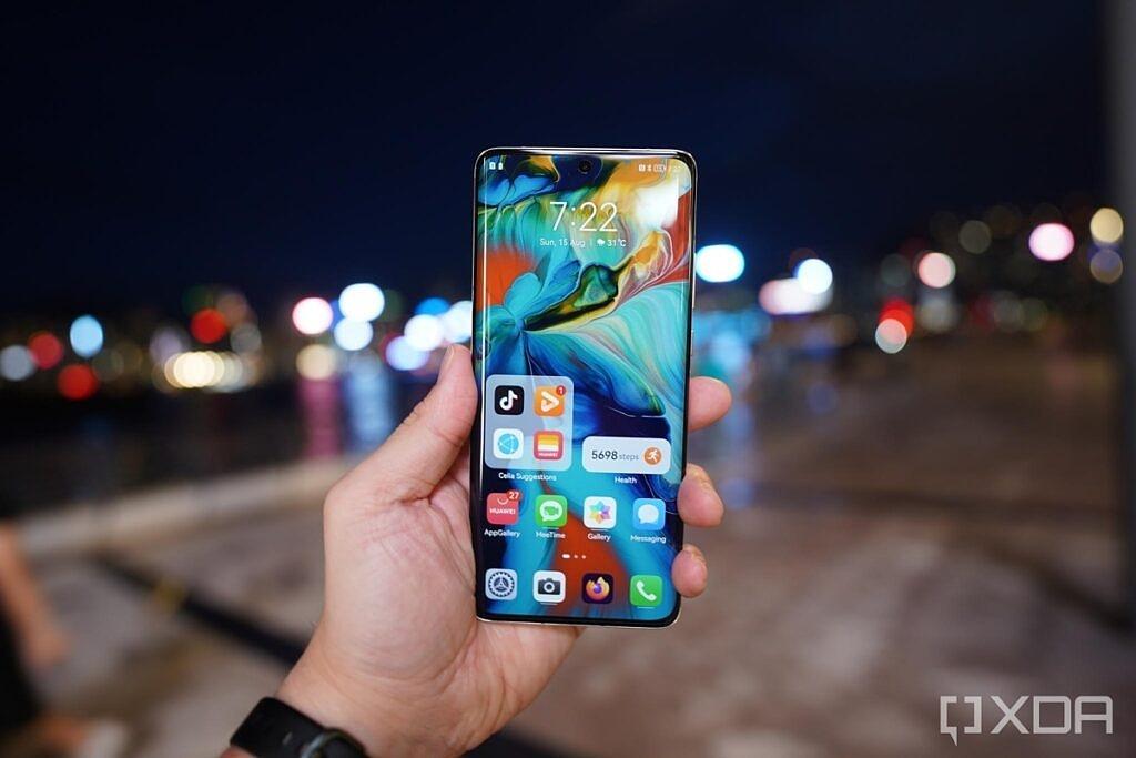 Huawei P50 Pro's homescreen.