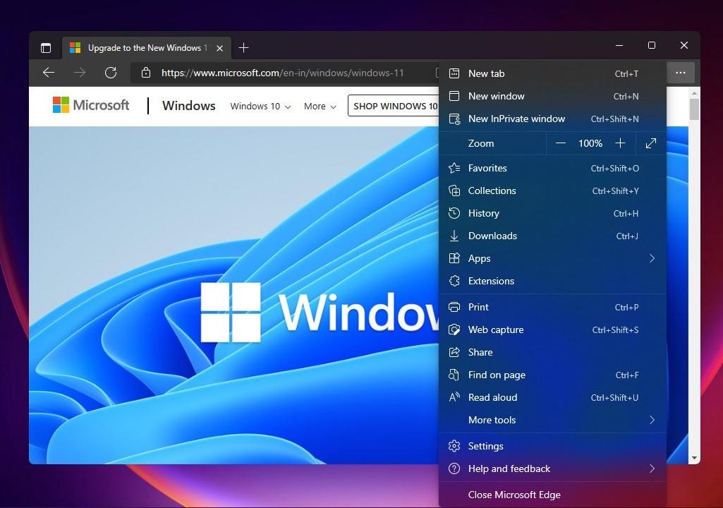 Microsoft Edge on Windows 11