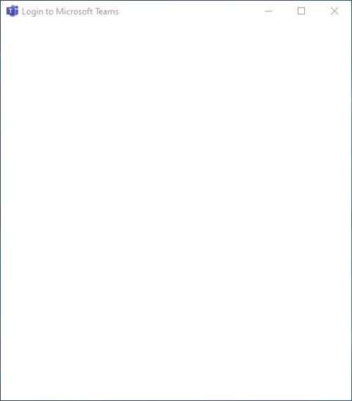 Microsoft Teams Blank White Screen on Windows