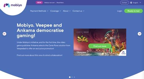Home page of Mobiyo
