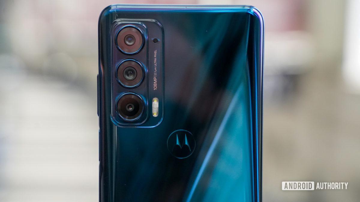 Motorola Edge camera closeup headon
