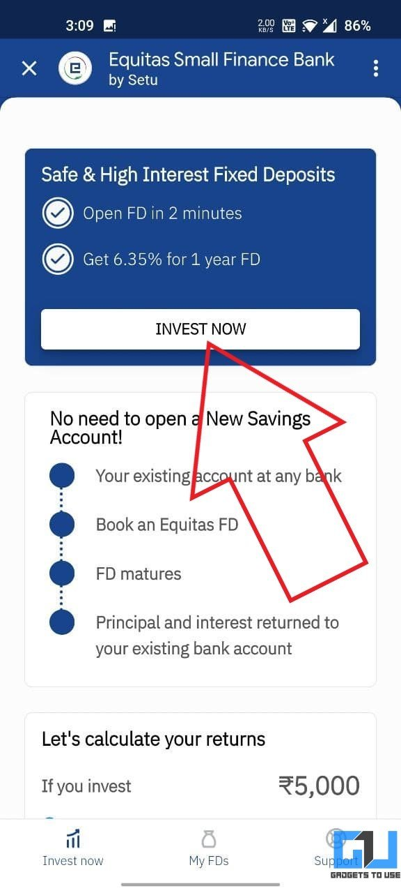 Open a Fixed Deposit in Google Pay