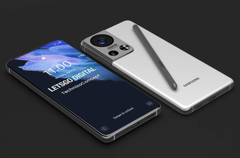 Samsung Galaxy S22 Concept Render