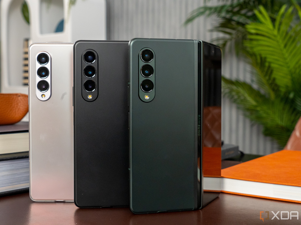 Samsung Galaxy Z Fold 3 in all three colors